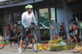 Sambil Gowes, Pangdam-Kasdam Sriwijaya Pastikan Protokol Kesehatan di Pasar Tradisional