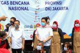 Menteri BUMN Sambangi Posko Masak Satgas COVID-19 BUMN