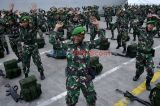 Upacara Penyambutan Kepulangan Satgas Pengamanan Perbatasan RI-Papua Nugini