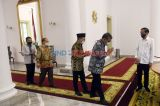 Presiden Jokowi Bertemu Pimpinan MPR di Istana Bogor