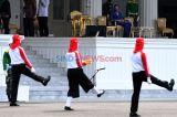 Presiden Jokowi Tinjau Gladi Upacara Peringatan Detik-Detik Proklamasi di Istana
