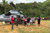 Kerahkan Helikopter, TNI AL Distribusikan Bantuan untuk Korban Gempa Majene