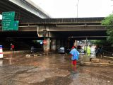 Hujan Deras di Jakarta, Jalan RE Martadinata Tanjung Priok Banjir
