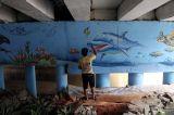 Dihiasi Mural dan Ruang Hijau, Kolong Jembatan Pegangsaan Kian Cantik