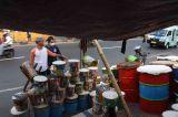 Pedagang Bedug Mulai Ramai di Kawasan Tanah Abang