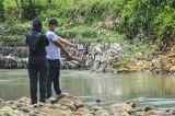 Olah TKP Siswa Tewas Tenggelam di Sungai Cileueur Ciamis