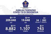 Jubir Pemerintah Sebut 209.040 Berstatus ODP dan 19.648 PDP Corona