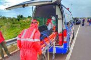 Petugas Tol Kapal Betung Gelar Simulasi Evakuasi Pasien Corona