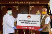 Perangi Corona, Prabowo Serahkan 5.000 Rapid Test ke Pemkot Bekasi