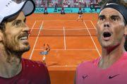 Seru dan Heboh, Ekspresi Murray dan Nadal Memainkan Tenis Virtual