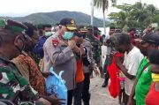 Kapolda dan Pangdam Serahkan Bantuan Sembako ke Kawasan Sentani Papua