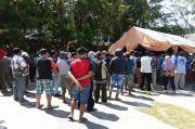 Ratusan Pedagang Sayur di Kota Jayapura Jalani Rapid Test Corona