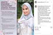 Dukung UMKM saat Covid-19, Annisa Pohan Buka Endorse Gratis Instastory