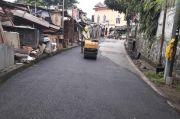Jalan Retak Akibat Tergerus Hujan di Kramatjati Rampung Diperbaiki