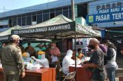 Rapid Test di Pasar Baru Karawang, Dua Orang Dinyatakan Reaktif