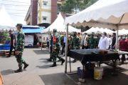 Pangdam Apresiasi Pasar Physical Distancing Karawang