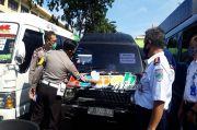 Ditlantas Polda Jatim Amankan 54 Kendaraan untuk Angkutan Mudik