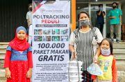 Poltracking Sebar 20.000 Paket Bansos dan 150.000 Paket Makan Gratis