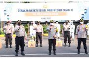 Polres Jakut Bagikan 2.100 Paket Sembako