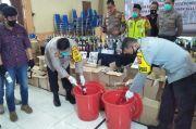 Polres Cimahi Sita Ribuan Botol Miras, Tekan Kriminalitas Selama Ramadhan