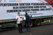 Menteri BUMN Serahkan Bantuan Alkes untuk Penanganan Corona di Jabar
