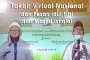 Sambut Idul Fitri 1441 H, Jokowi-KH. Maruf Amin Ikuti Takbir Virtual Kemenag