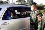 Jelang Lebaran, Prajurit Kostrad Siaga di Pos PSBB Malang Raya