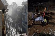 Lokasi Pesawat Pakistan Jatuh Mirip Medan Perang, 42 Jasad Ditemukan