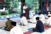 Bupati Sleman Salat Idul Fitri di Pendopo Rumah Dinas Bersama Keluarga