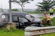 Toyota Rush Terbakar di Tol Cipali, Balita Luka Berat