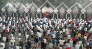 Jumatan Perdana saat Pandemi, Salat di Masjid Agung At Tin Berjalan Tertib