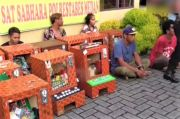 Sabhara Polrestabes Medan Cokok 10 Bandar Sabu dan Sita 19 Mesin Judi Jackpot