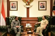 Bertemu Menhan Prabowo, Kepala Bakamla Bahas Strategi Keamanan