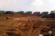 Hati-hati, Jalan Nasional di Sukajaya Penuh Tanah Galian C