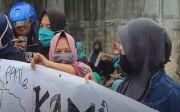 Ratusan Buruh Unjuk Rasa di Depan Gerbang PT Unibis Kota Medan