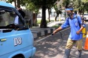 New Normal, Angkot di Kota Cirebon Disemprot Disinfektan