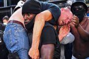 Viral, Pria Kulit Hitam Selamatkan Pria Kulit Putih Lawan Demonstran BLM