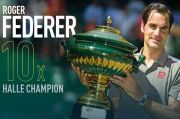 Keperkasaan Roger Federer dan Sejarah 10 Gelar di Halle