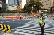 Hari Pertama CFD, Jalan Sudirman Dijaga Ketat Petugas Gabungan