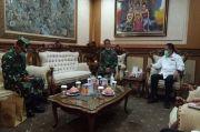 Sambangi Kantor Walikota Denpasar, Danlanal Mantapkan Sinergi Cegah Covid 19