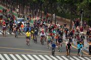 Pesepeda Masih Ramai di Sepanjang Sudirman-Thamrin