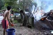 Kobaran Api Luluh Lantakkan Satu Rumah di Deli Serdang