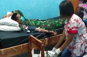 Satgas Pamtas Yonif 132/BS Donor Darah untuk Warga Perbatasan dengan Timor Leste