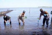 Wagub Sulsel Tanam Mangrove di Pesisir Pantai Takalar