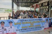 216 TKI dari Malaysia Tiba di Pelabuhan Teluk Nibung Asahan