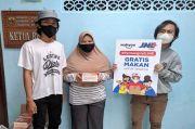 25.400 Warga Jakarta Makan Gratis Melalui Program #RantangHatiJNE
