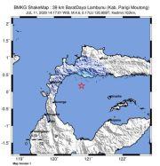 Gempa Bumi Tektonik M 4.6 Guncang Toli-Toli, Tak Berpotensi Tsunami