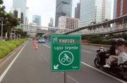 Belum Adakan CFD, Jalur Sepeda di Sudirman-Thamrin Diperlebar