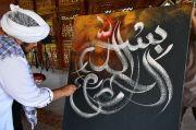 Lukisan Asmaul Husna Ustaz Derry Siap Cetak Rekor MURI
