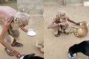 Pengemis Ini Tak Berdaya, tapi Masih Beri Makan 2 Anjing Kelaparan